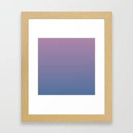 Gradient Dawn Pink Purple Blue Framed Art Print