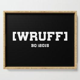 WRUFF - PUP BQ Serving Tray