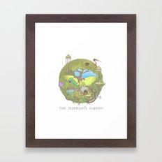 The Elephant's Garden - Version 1 Framed Art Print