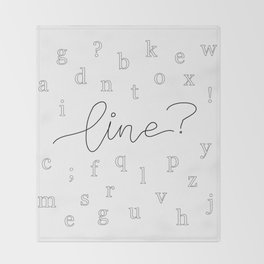 Line? Throw Blanket