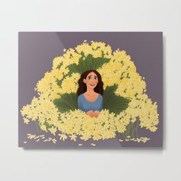 1000 Yellow Daisies Metal Print