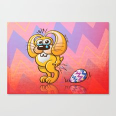 Painful Easter Bunny Job Canvas Print