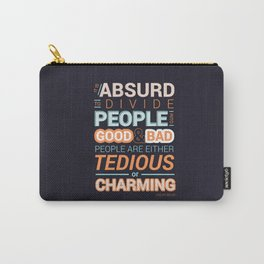 Oscar Wilde Charming Quote Poster Carry-All Pouch