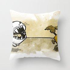 Were-Rabbit Throw Pillow