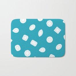 Blue Moissy Gem Pattern Bath Mat