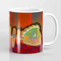 selena gomez Mugs featuring Dry Swimming  / Trapped by Menchulica