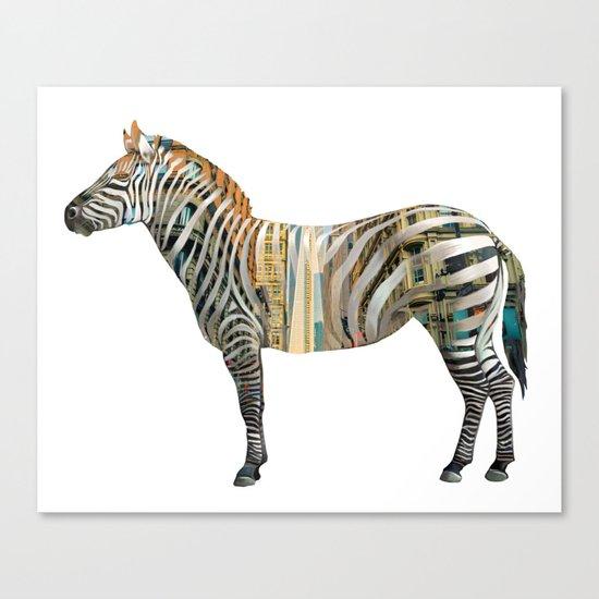 City Zebra Canvas Print