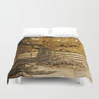 kerouac Duvet Covers featuring Autumn Leaves by Elke Meister