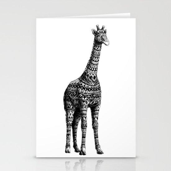 Ornate Giraffe Stationery Cards