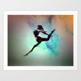 Ballet Dancer Feat Lady Dreams Abstract Art Art Print