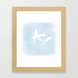 Letter A Framed Art Print