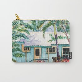Tropical Vacation Cottage Carry-All Pouch