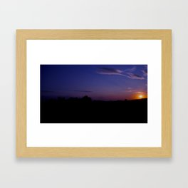 Amazing sunset Framed Art Print