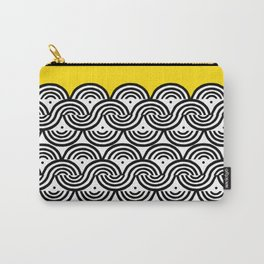 Great Half - black and white block print with sunny yellow accent Carry-All Pouch