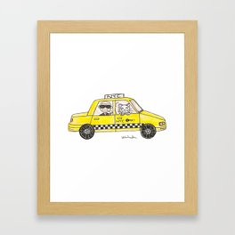 Karl in a Cab Framed Art Print
