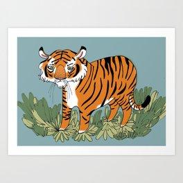Tiger tiger burning bright Art Print