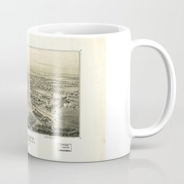 Aerial View of Sunset, Texas (1890) Coffee Mug