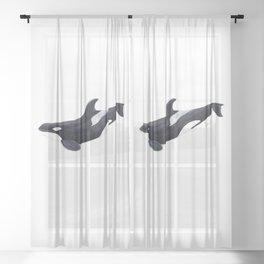 Orca killer whale Sheer Curtain