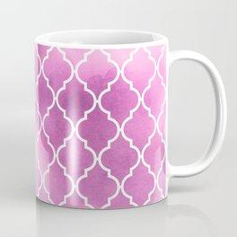 Moroccan Trellis, Latticework, Watercolors - Pink Coffee Mug