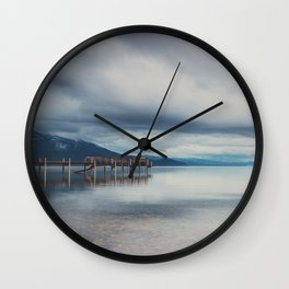 reflections in the water ...  Wall Clock