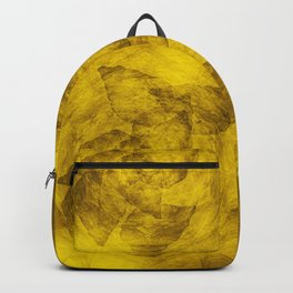 Leaves in a glowing yellow storm Backpack