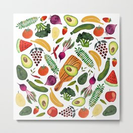 Raw food Metal Print