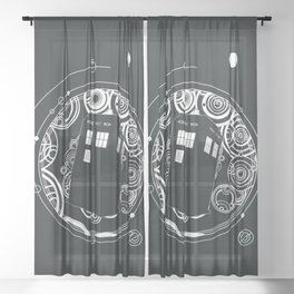 Negative Time and Space - Doctor Who inspired Sheer Curtain