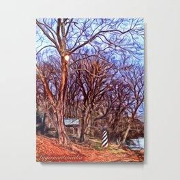 KINGSPORT TN - STH HOLSTON RIVER LIGHTHOUSE - SWIRL Metal Print