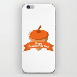 Happy Thanksgiving Day Chestnut Design iPhone Skin