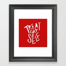 Treat Yo Self: Holiday Edition Framed Art Print