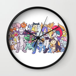 Illustration anime Wall Clock