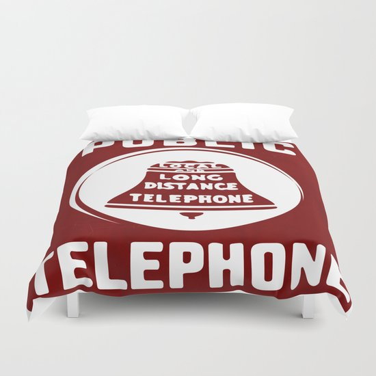 Public Telephone Duvet Cover