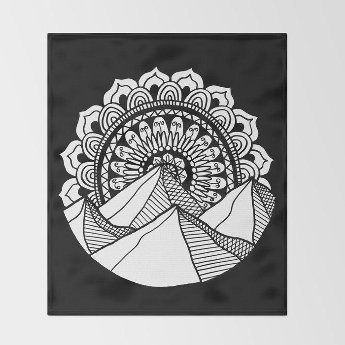 Mountain Mandala Throw Blanket