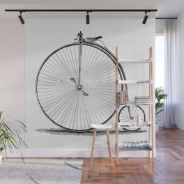 Penny-farthing. Wall Mural