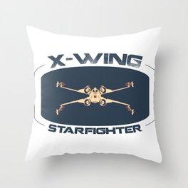 X-Wing Starfighter Throw Pillow