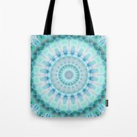 spiritual Tote Bags featuring Spiritual purity by Christine baessler