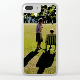 The Cricket Match Clear iPhone Case