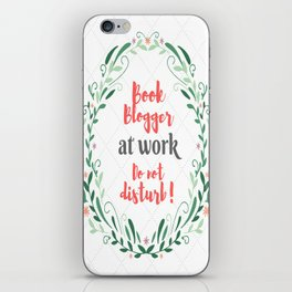 Book Blogger at work. iPhone Skin