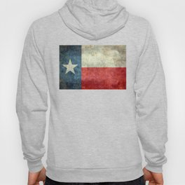 Texas flag, Retro distressed texture Hoody