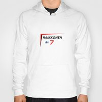 f1 Hoodies featuring F1 2015 - #7 Raikkonen [v2] by MS80 Design