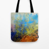 illusion Tote Bags featuring Illusion by Christine Scurr
