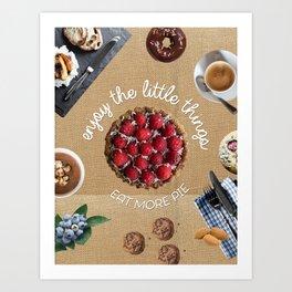 eat more cake canvas Art Print