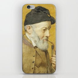 ANKER, ALBERT (1831 Ins 1910) Old farmer with whistle. 1910t iPhone Skin