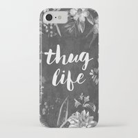 2pac iPhone & iPod Cases featuring Thug Life by Text Guy