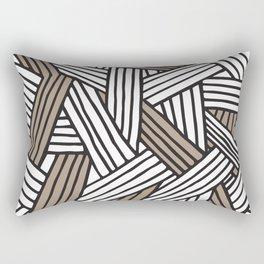 Lines in Natural Rectangular Pillow