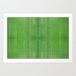 Mean Green Art Print