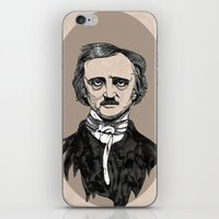 edgar allan poe iPhone & iPod Skins featuring edgar allan poe by Lily Livingston