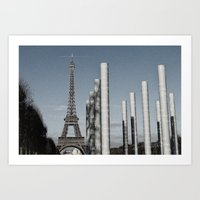 eiffel tower Art Prints featuring Eiffel Tower by Sébastien BOUVIER