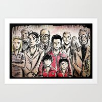 the royal tenenbaums Art Prints featuring The Royal Tenenbaums by Joe Badon