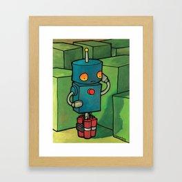 Robot - Self Destrukt Framed Art Print